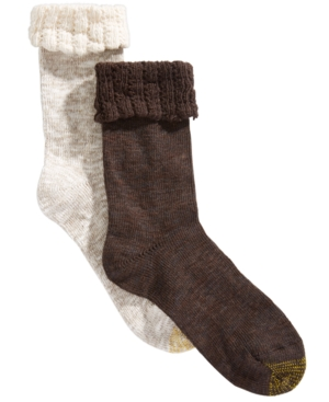 Image of Gold Toe 2-Pk. Antiquity-Cuff Marled Socks