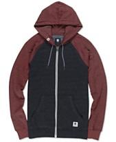 8cf5b7933f Element Men's Meridian Colorblocked Raglan-Sleeve Full-Zip Hoodie