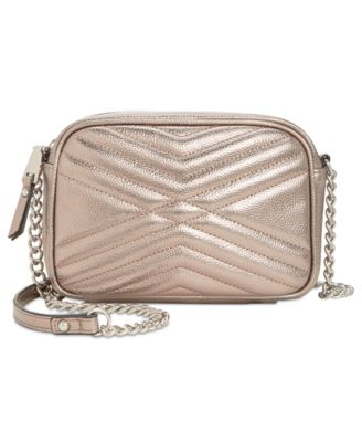 8a7a45a968d I.N.C. Glam Metallic Quilted Camera Crossbody, Created fo.