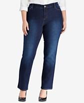 a52b0949e Lauren Ralph Lauren Plus Size Premier Straight Jeans