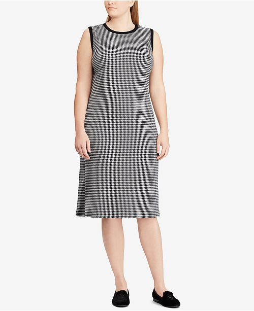 Lauren Ralph Lauren Plus Size Houndstooth Dress & Reviews - Dresses ...
