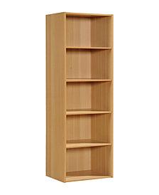 5-Shelf Bookcase in Beech