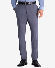 Kenneth Cole Reaction Men's Slim-Fit Stretch Subtle Plaid Dress Pants