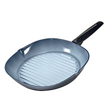 "Moneta Azul Gres Ceramic Non-Stick Forged Aluminum 11.5"" Grill Pan"