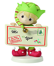 Precious Moments Joy Peace And Christmas Cheer 1st in Annual Elf Series Figurine