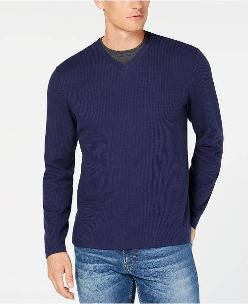 Club Room Men's Double V-Neck T-Shirt, Created for Macy's