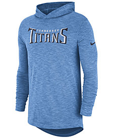 Nike Men's Tennessee Titans Dri-Fit Cotton Slub On-Field Hooded T-Shirt