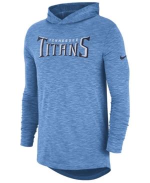 Nike Men's Tennessee Titans Dri-Fit Cotton Slub On-Field Hooded T-Shirt