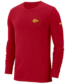 Nike Kansas Men's City Chiefs Heavyweight Seal Long Sleeve T-Shirt