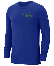 Nike Men's Seattle Seahawks Heavyweight Seal Long Sleeve T-Shirt