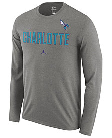 Nike Men's Charlotte Hornets Essential Facility Long Sleeve T-Shirt