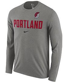 Nike Men's Portland Trail Blazers Essential Facility Long Sleeve T-Shirt