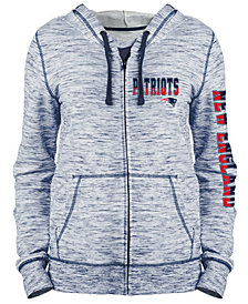 5th & Ocean Women's New England Patriots Space Dye Full-Zip Hoodie