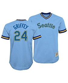 Outerstuff Ken Griffey Jr. Seattle Mariners Mesh V-Neck Player Top, Big Boys (8-20)