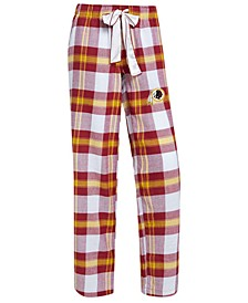 Women's Washington Redskins Headway Flannel Pajama Pants