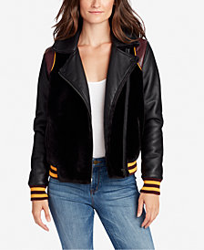 WILLIAM RAST Noelie Mixed-Media Varsity Jacket