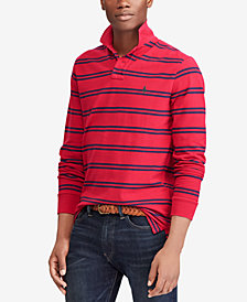 Polo Ralph Lauren Men's Custom Slim Fit Long-Sleeve Striped Polo