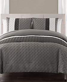 VCNY Home Edgemont 3-Pc. King Embossed Comforter Set