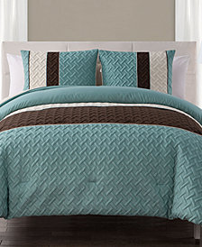 VCNY Home Edgemont 3-Pc. Full/Queen Embossed Comforter Set