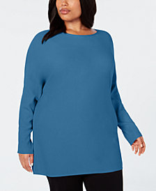 I.N.C. Plus Size Dolman-Sleeve Sweater, Created for Macy's