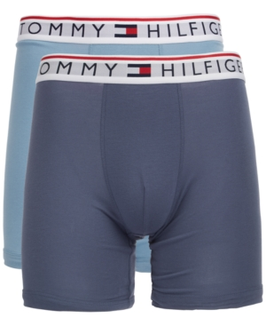 1adea68778a Tommy Hilfiger Men S 2-Pk. Modern Essentials Boxer Briefs In Dusty Blue