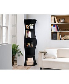 Seth 5 Shelf Corner Bookcase