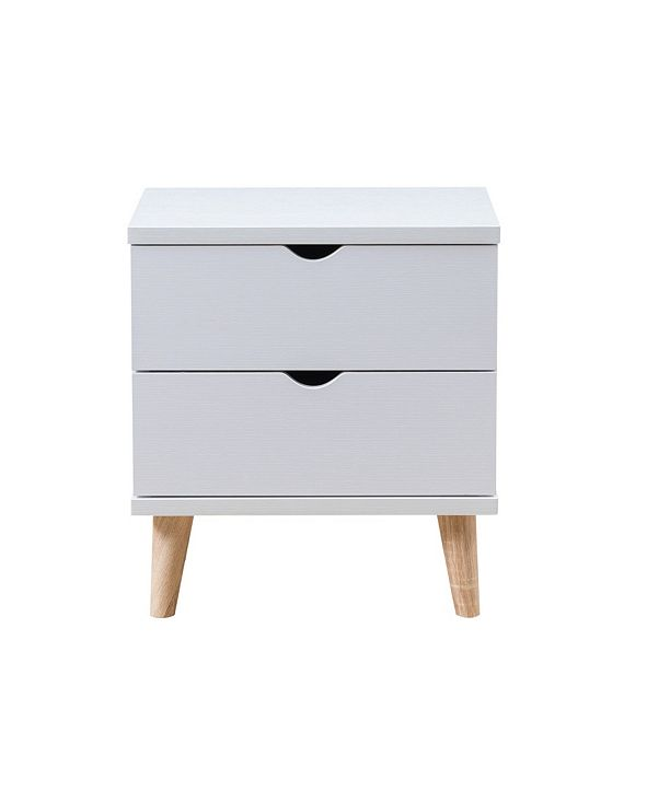 Furniture of America Massenburg II Modern 2-Drawer Nightstand