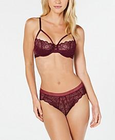 Superior Lace Underwire Bra & Mesh-Waist Bikini