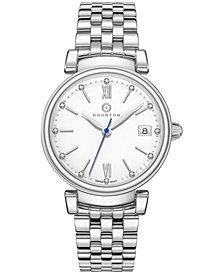 Womens Imperial Diamond Accented Swiss Bracelet Watch