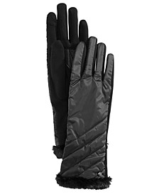 Channel-Quilted Touch Gloves