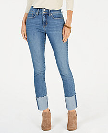Style & Co Frayed-Cuff Ankle Jeans, Created for Macy's