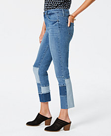 Style & Co Patchwork Ankle Jeans, Created for Macy's