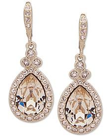 Pavé & Colored Stone Drop Earrings