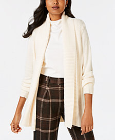 Charter Club Shawl-Collar Long-Sleeve Cardigan, Created for Macy's