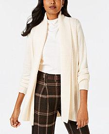 Charter Club Shawl-Collar Long-Sleeve Cardigan, Created for Macy's