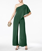 da9d4e76d5f Adrianna Papell Petite Draped One-Shoulder Jumpsuit