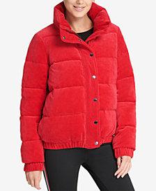 DKNY Sport Velour Puffer Coat