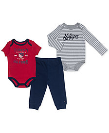 Tommy Hilfiger Baby Boys 3-Pc. Bodysuits & Jogger Pant Set