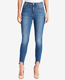 WILLIAM RAST Step-Hem Sculpted High-Rise Skinny Jeans