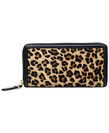 Radley London Witley Leopard-Print Zip-Around Matinee Wallet