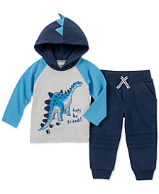 Kids Headquarters Baby Boys 2-Pc. Hooded Top & Jogger Pants Set