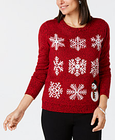 Karen Scott Petite Snowflake Sweater, Created for Macy's