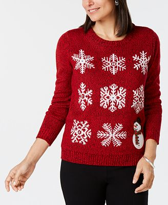 Karen Scott Petite Snowflake Sweater Created For Macys Sweaters
