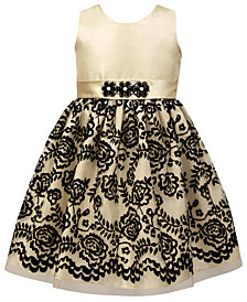 Jayne Copeland Little Girls Floral Flocked Dress