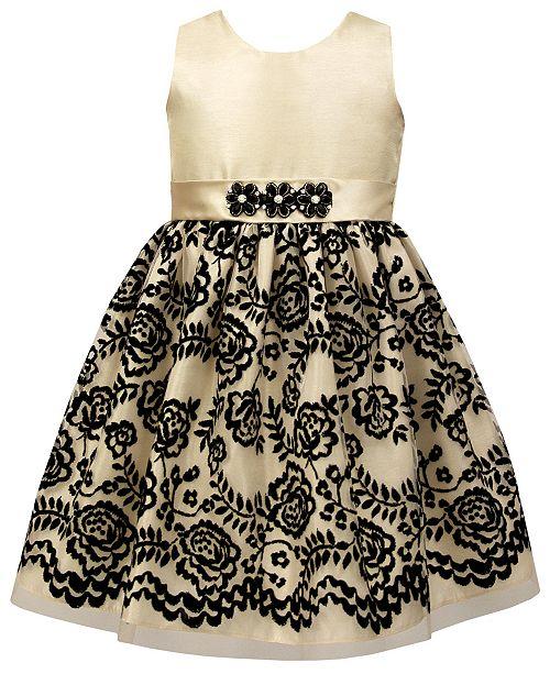63d1534cffb Jayne Copeland Toddler Girls Floral Flocked Dress   Reviews ...