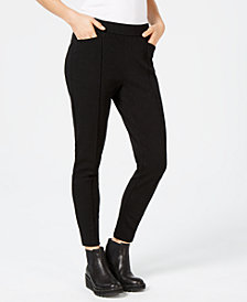 Eileen Fisher Tencel® Ponte Pintucked Skinny Pants, Created for Macy's