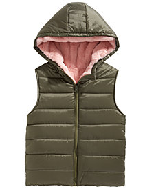 Epic Threads Big Girls Hooded Puffer Vest, Created for Macy's
