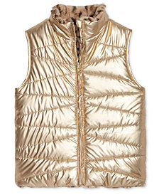 Epic Threads Big Girls Faux-Fur Reversible Vest, Created for Macy's