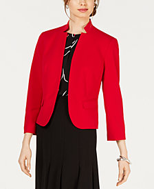 Nine West Kiss-Front Blazer