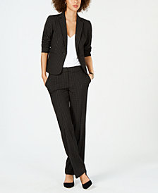 Nine West Windowpane Plaid Jacket & Pants